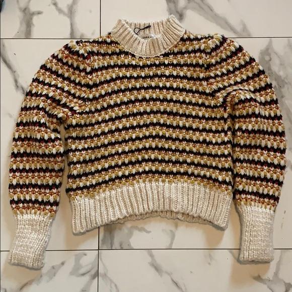 Zara Multi Color Knit Sweater